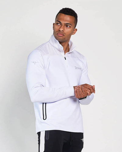 Elite Quarter Zip Jacket - White