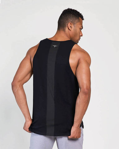 Motion Side Split Vented Tank - Black