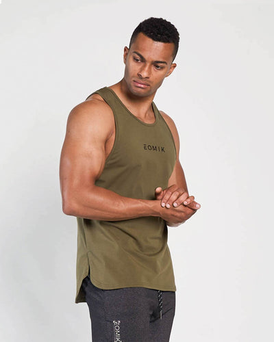 Motion Side Split Vented Tank - Olive