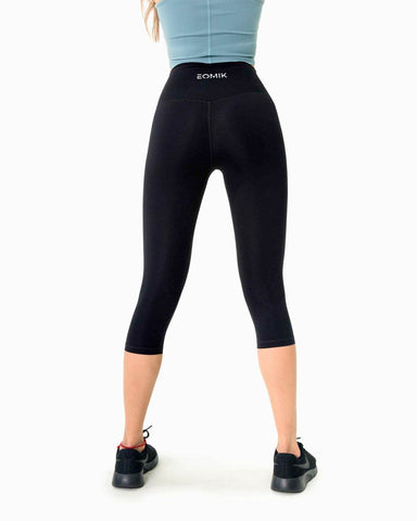 Naked Capri Leggings - Black