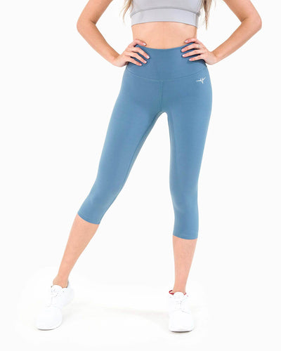 Naked Capri Leggings - Blue
