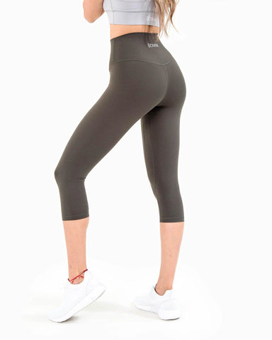 Naked Capri Leggings - Forest