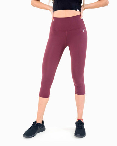 Naked Capri Leggings - Merlot