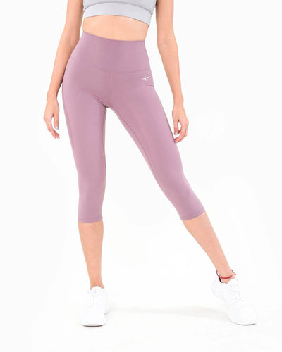 Naked Capri Leggings - Orchid Purple