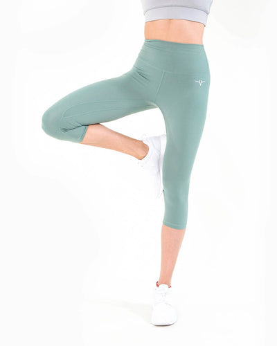 Naked Capri Leggings - Pastel Green