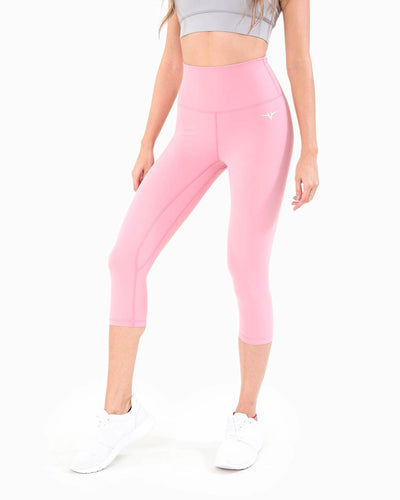 Naked Capri Leggings - Pink