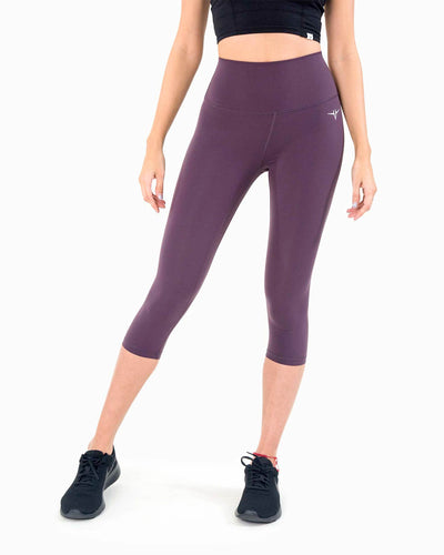 Naked Capri Leggings - Plum