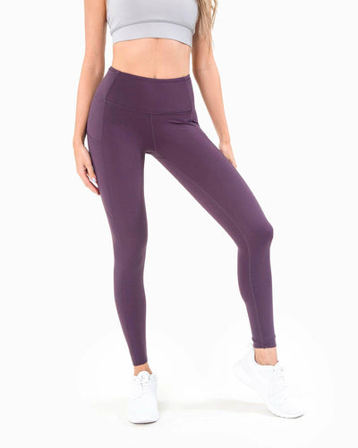 Naked Pocket Leggings - Purple