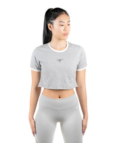 Performa Cropped Tee - Gray