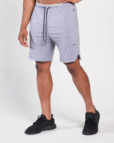 Poly Tech Training Shorts - Heather Gray