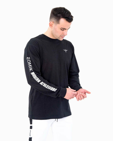 Statement Casual Long Sleeve - Black