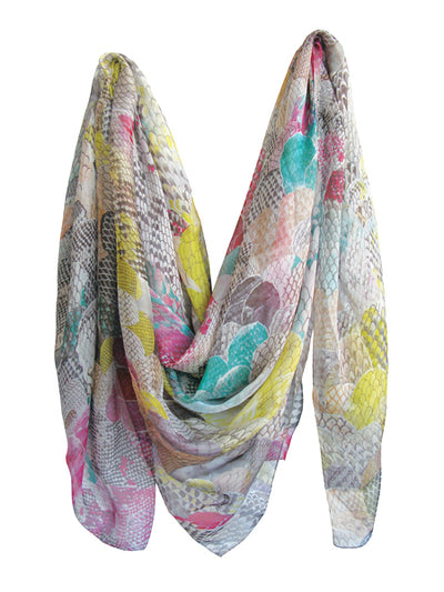 SEASTER silk mousseline scarf