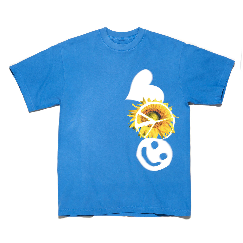 HOL2102 - SUNFLOWER TEE (BLUE)