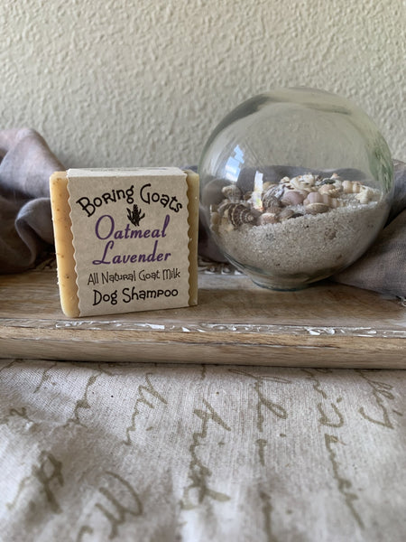 Goat Milk DOG Shampoo Bar - Oatmeal and Lavender - Lunar Dragonfly