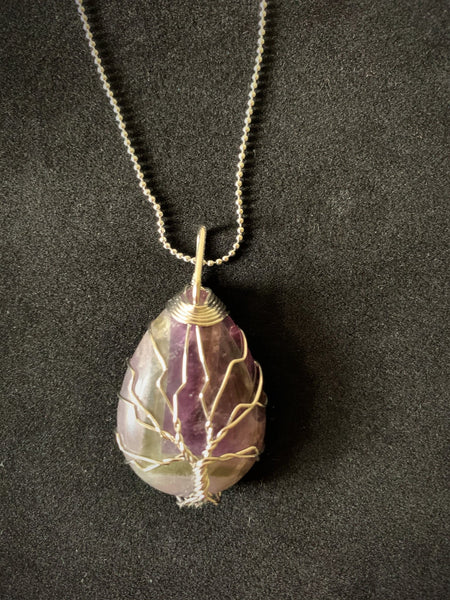 Walden Tree of Life Pendant Necklace - Amethyst - Lunar Dragonfly
