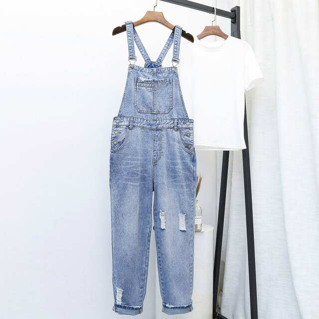 S-Fly Womens Casual Loose Denim Jean Spaghetti Strap Pants Rompers Jumpsuits