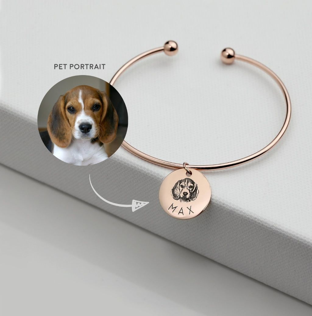 Custom Pet Portrait Bangle