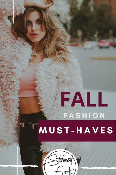 Fall fashion must-haves: fall fashion trends to wear with your statement earrings.