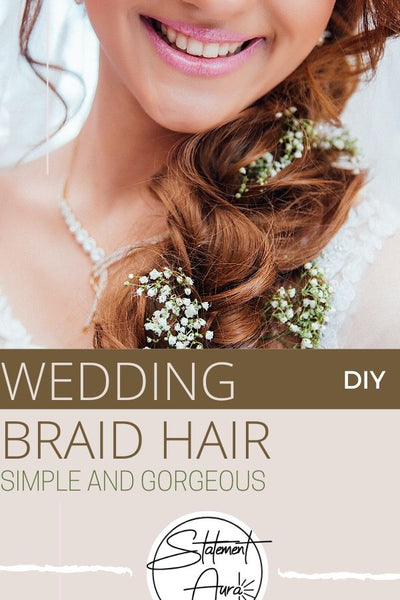 GORGEOUS AND EASY WEDDING HAIR STYLE. BRAIDED WEDDING HAIR TUTORIAL
