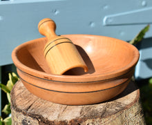 Load image into Gallery viewer, Wooden Bowl with Wooden Scoop - The Sidlaw Hare