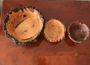 Mixed Set of Wooden Bowls - The Sidlaw Hare