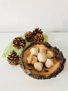 Wooden Acorn Ornaments and Wooden Dish - The Sidlaw Hare