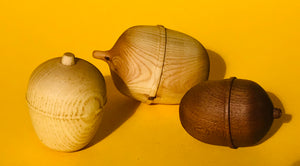 Large Wooden Acorns in a Wooden Bowl or Plate - The Sidlaw Hare
