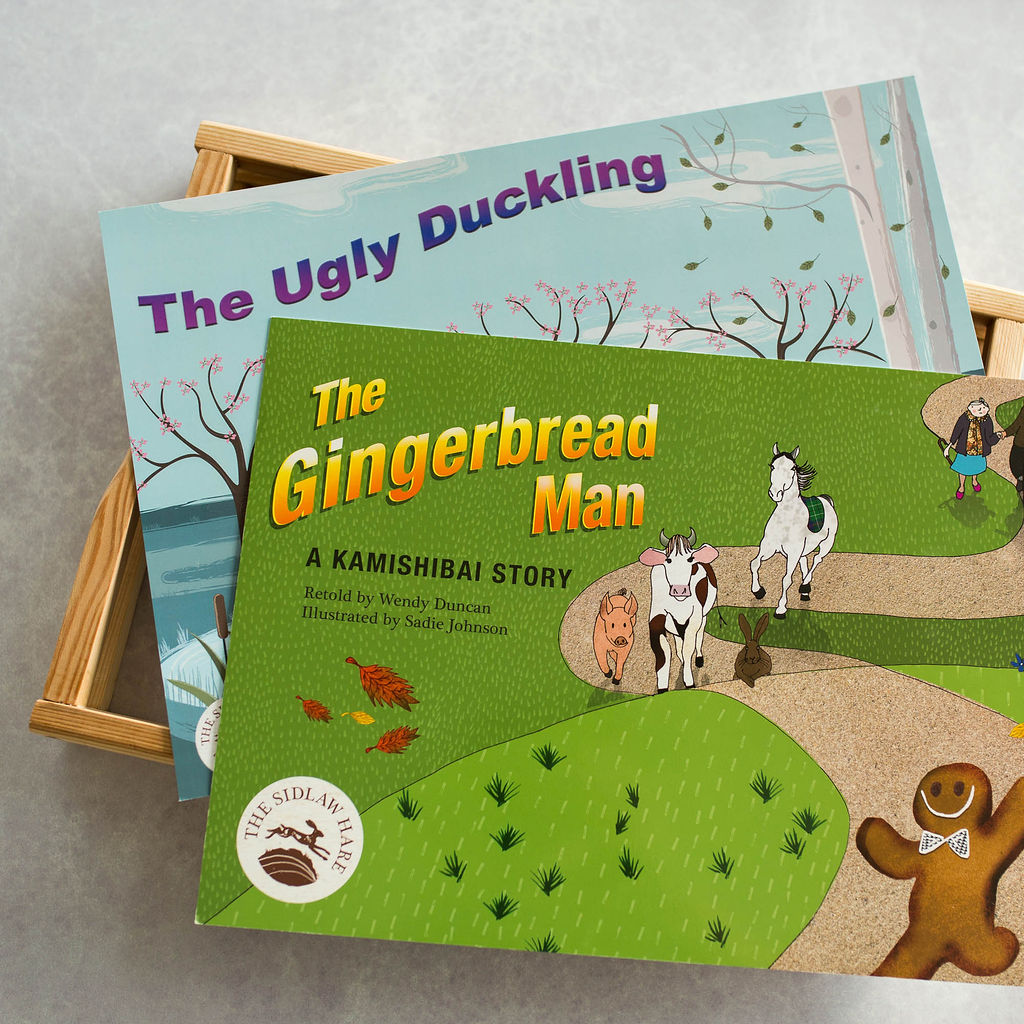 The Gingerbread Man and The Ugly Duckling together with Frame - The Sidlaw Hare