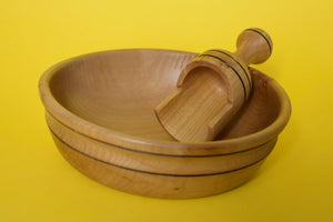 Wooden Bowl with Wooden Scoop - The Sidlaw Hare