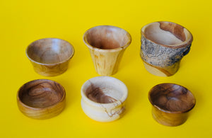 Six Little Wooden Pots - The Sidlaw Hare