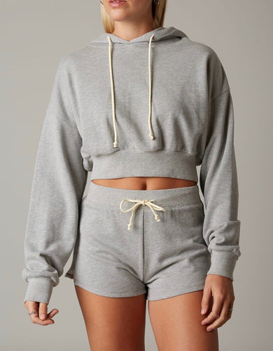 Hooded Cropped Sweatshirt