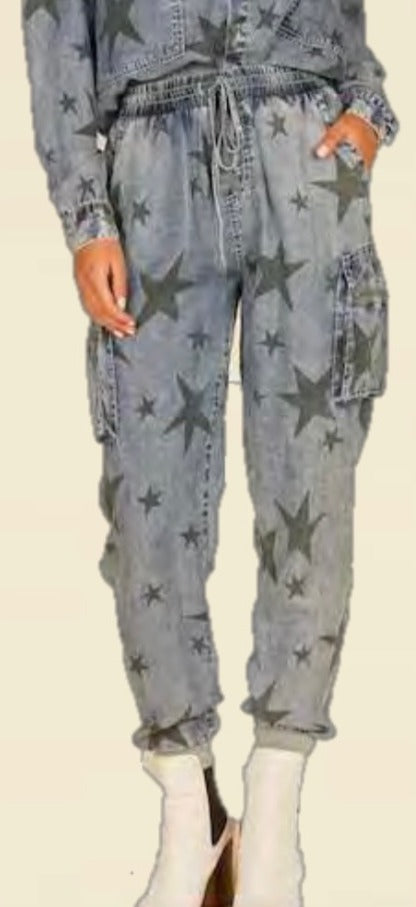 Star Cargo Denim Joggers