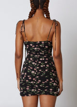 Load image into Gallery viewer, Ruched Bustier Tie Mini Sress