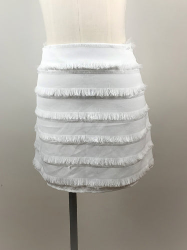 Textured Eyelash Fringe Mini Skirt
