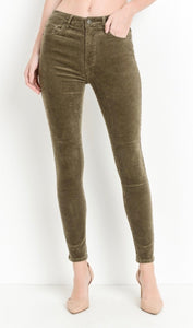 High Waist Skinny Stretch Corduroy Pant