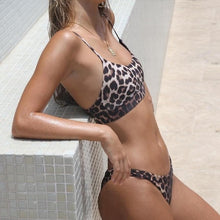 Load image into Gallery viewer, Leopard Adjustable Strap Bikini