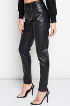 Load image into Gallery viewer, Faux Leather Four Pocket Pants