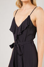 Load image into Gallery viewer, Washed Ruffle Wrap Tie Waist Dress