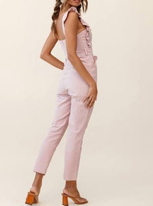 Ruffle Sleeveless Jumpsuit