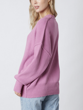 Load image into Gallery viewer, Drop Shoulder Crew Neck Sweater