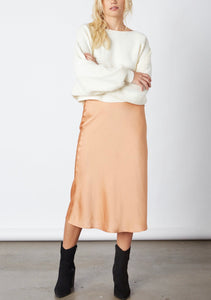 Satin Bias Cut Midi Skirt