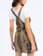 Load image into Gallery viewer, Snake Print Overall Dress
