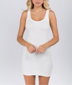 Tank Ribbed Mini Dress