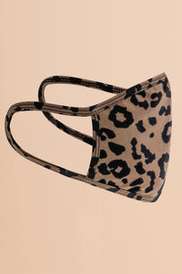 Leopard Stretch Washable Mask