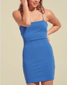 Bodycon Crisscross Open Back Mini Dress