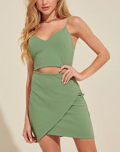 Cut Out Tulip Hem Mini Dress