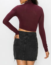 Load image into Gallery viewer, Long Sleeve Turtleneck Crop Top