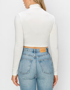 Long Sleeve Turtleneck Crop Top
