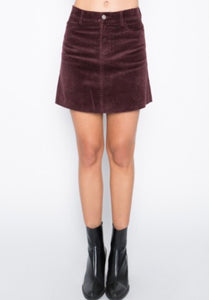 Corduroy High Waisted 4 Pocket Mini Skirt