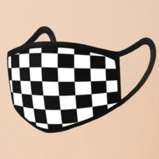 Checker Stretch Washable Mask